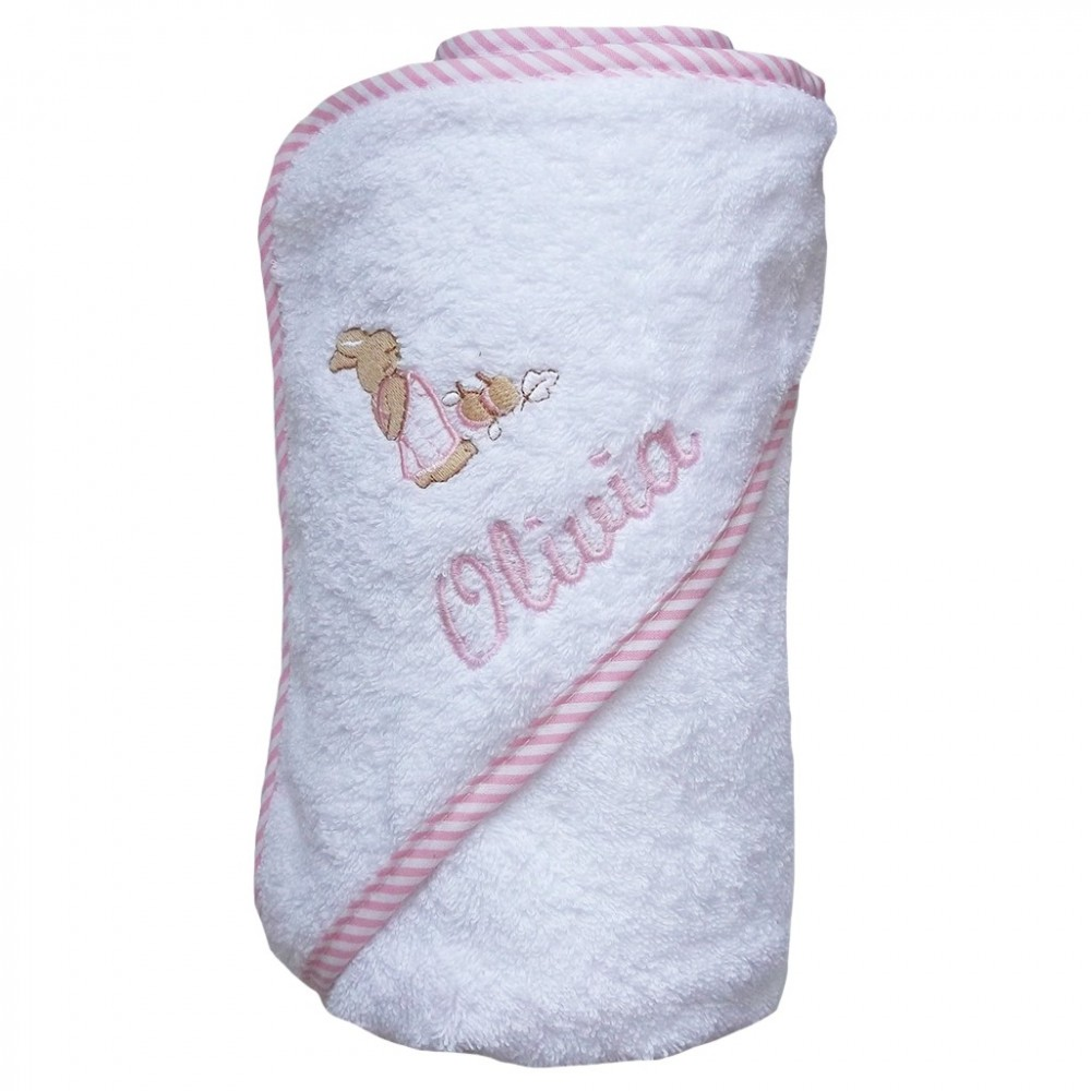 Baños En Ninos Con Varicela:Para qué ocasión? > Capa de baño con ribete de rayas rosas