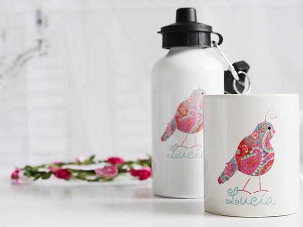 termo y taza personalizados para niños