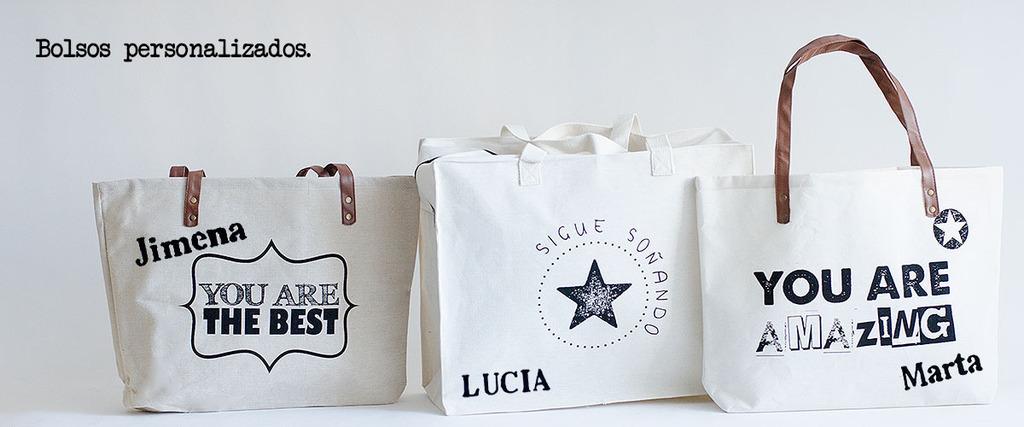 bolsas de tela con mensaje