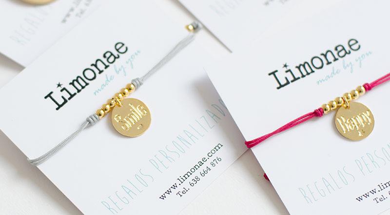 pulseras con nombre grabado