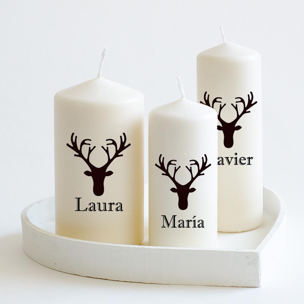 velas de navidad con nombre