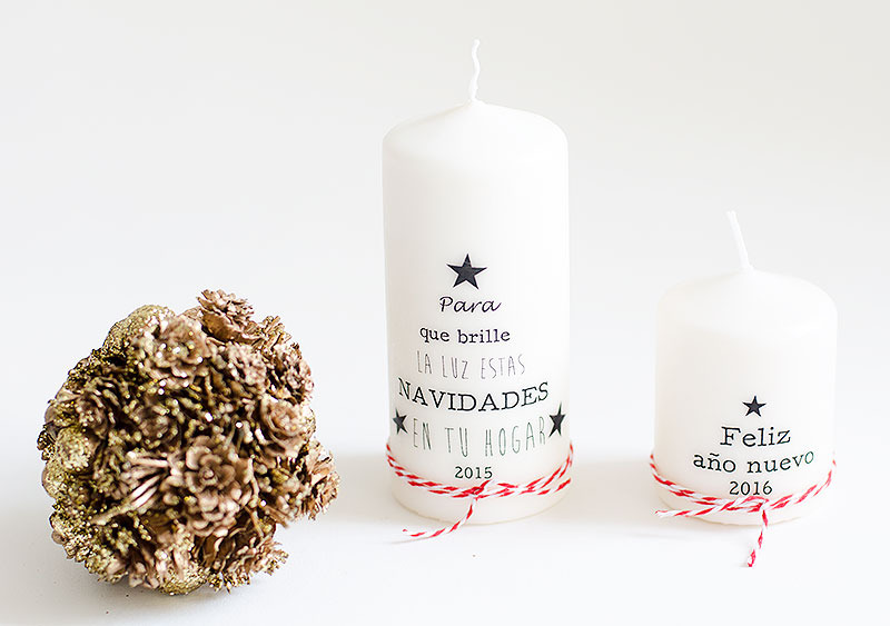 Velas personalizadas para navidad