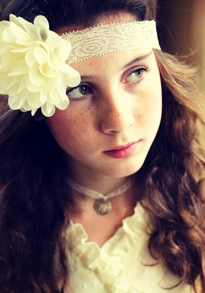 diademas flor niña
