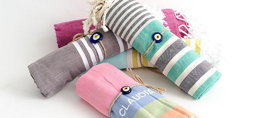 toallas de playa bordadas