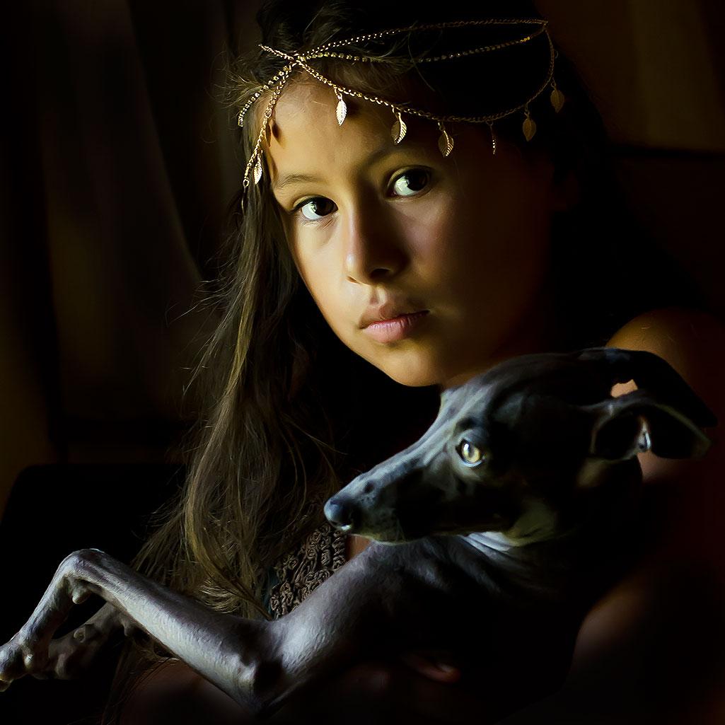 fotografia de niña con tocado