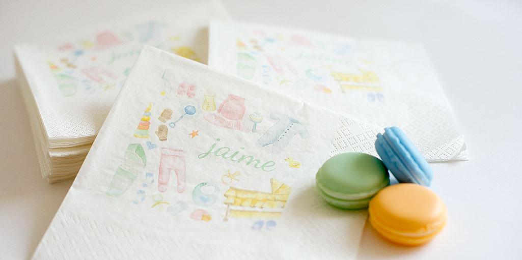 servilletas infantiles personalizadas