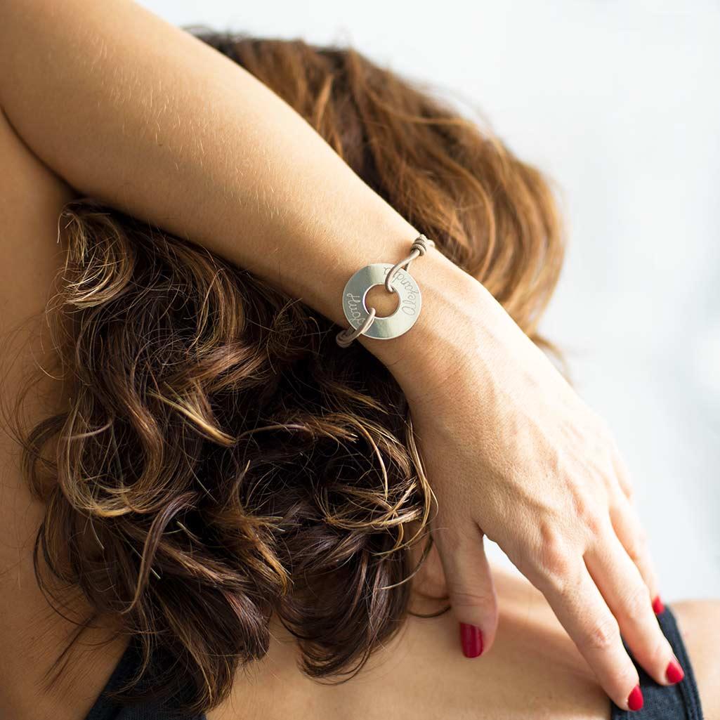 pulseras de plata grabadas