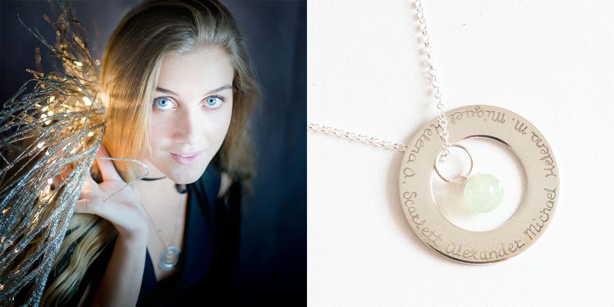 collar de plata personalizado