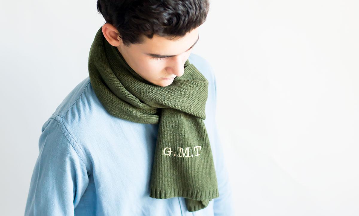 bufanda de punto para hombres