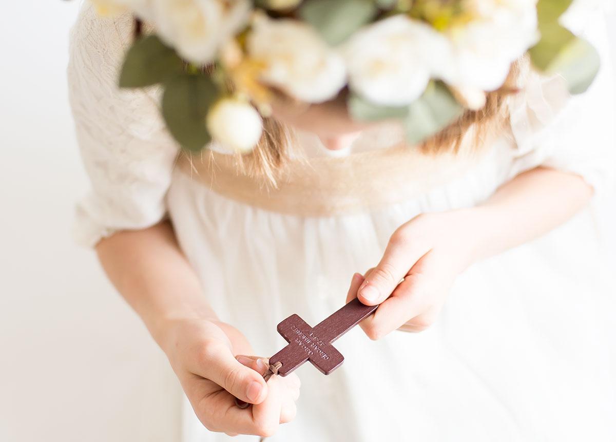 cruz de madera personalizada