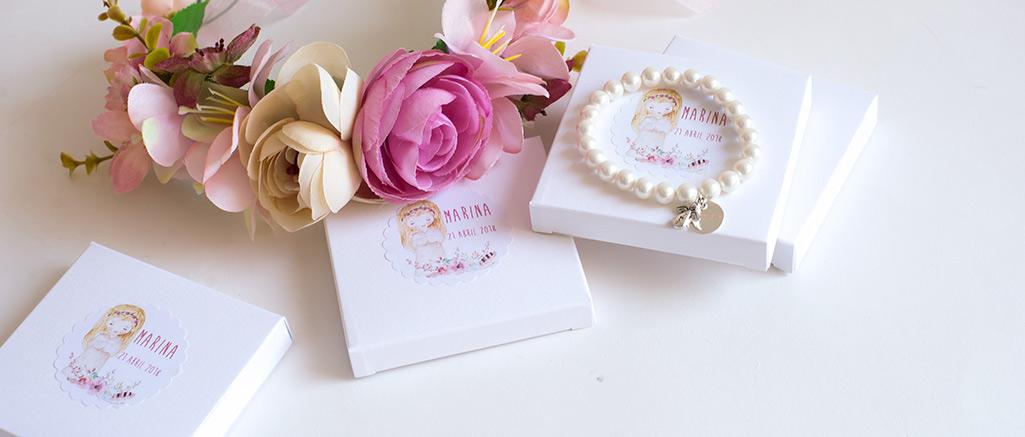 pulsera de perlas personalizada