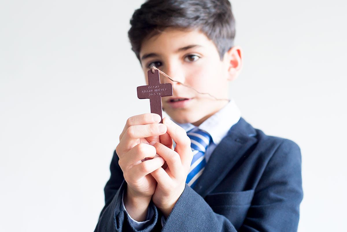 cruz de madera personalizada niño
