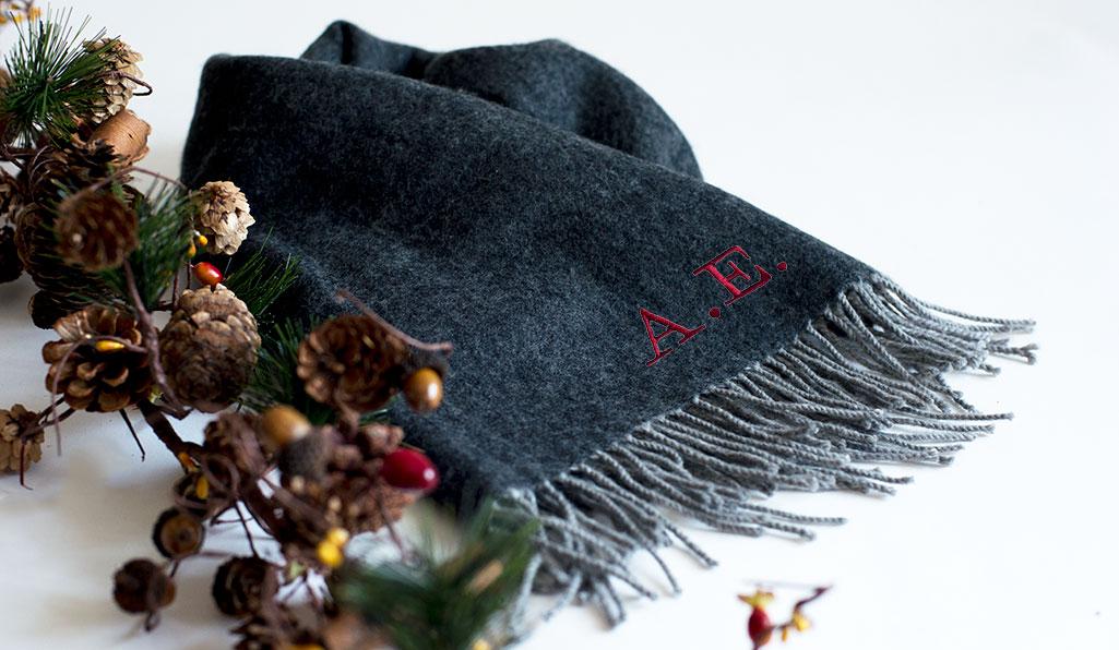 bufanda de lana personalizada