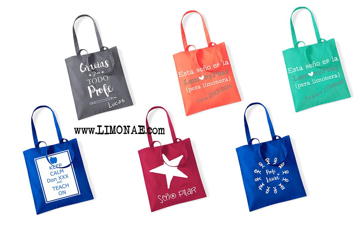 bolsas personalizadas para profesoras