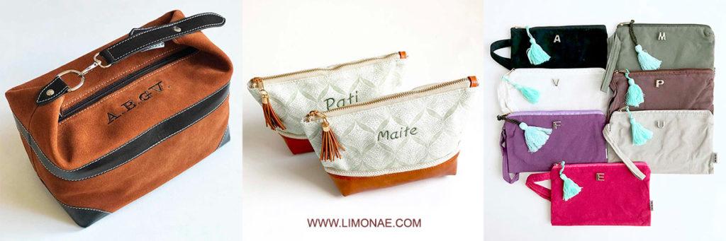 regalos originales para mujer. neceseres personalizados con nombre o iniciales.
