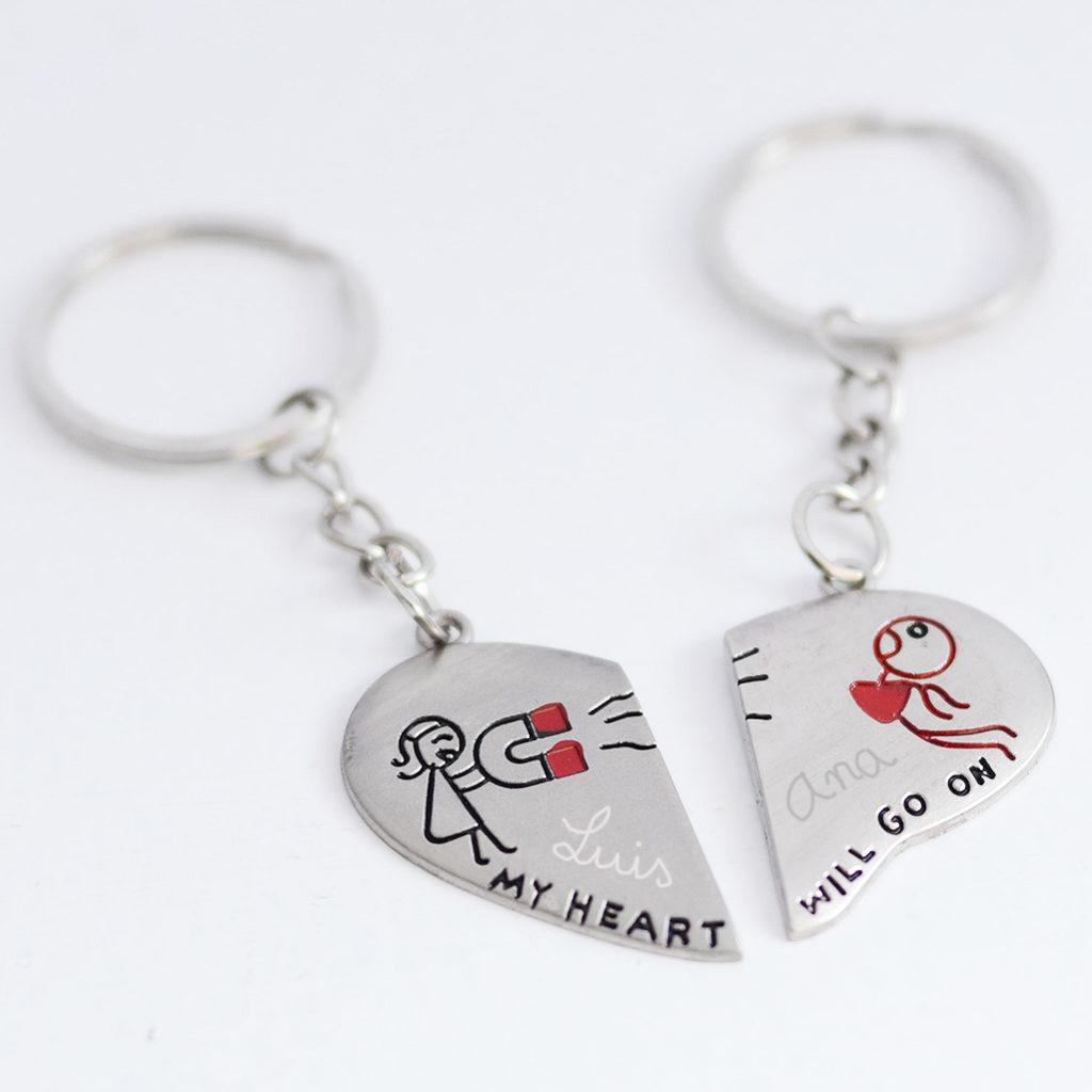 llaveros personalizados san valentin