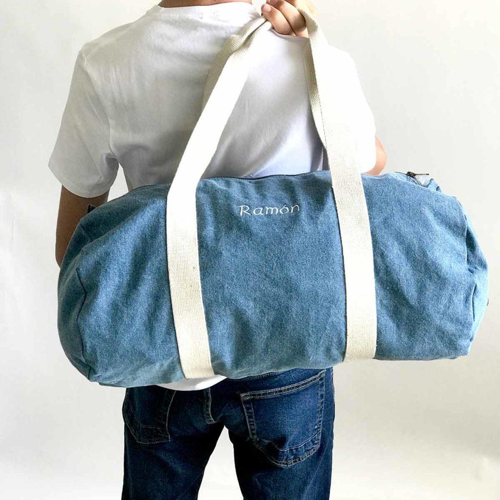 Bolsa de algodón para deporte con iniciales