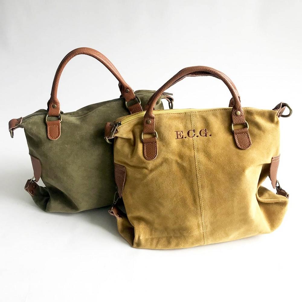 bolsos personalizados de ante o cuero