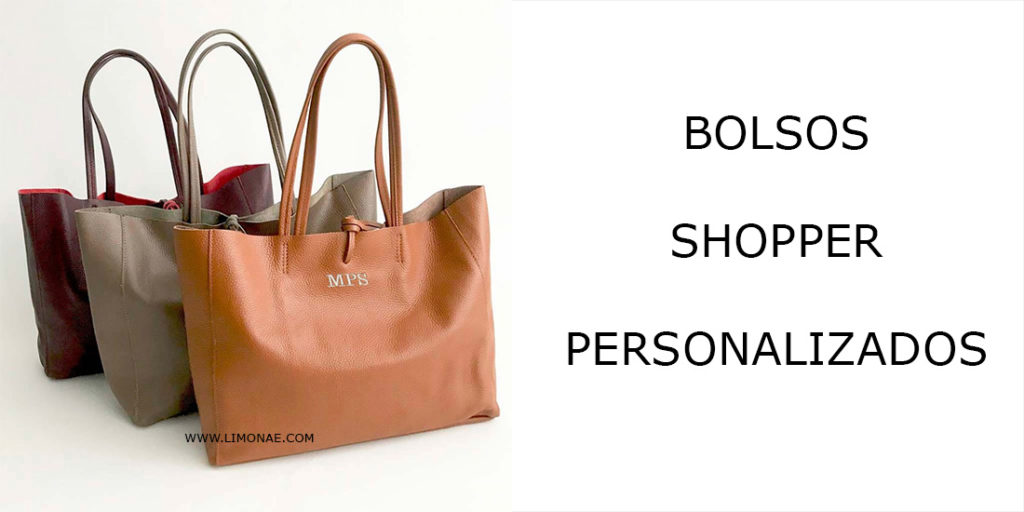 bolsos shopper con iniciales bordadas