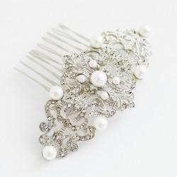 Peinecilla para el pelo con perlas