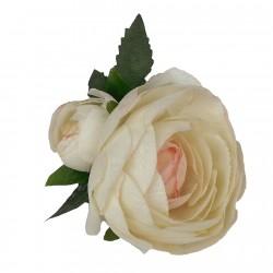 Adorno pelo Comunión Flor de tela con pinza en 3 colores