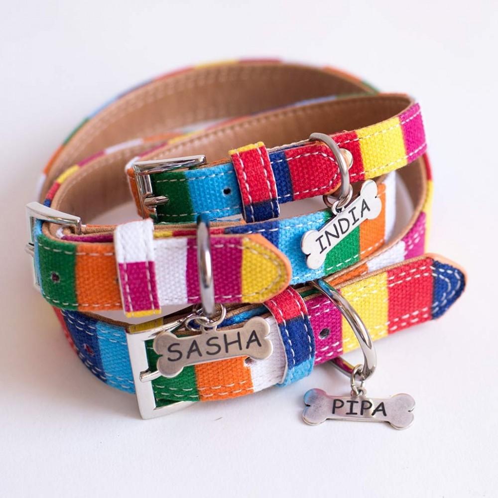 Placas con nombre para perros collares personalizados for Collares para perros