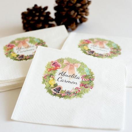 """20 Servilletas personalizadas navideñas """"Abuelita"""""""