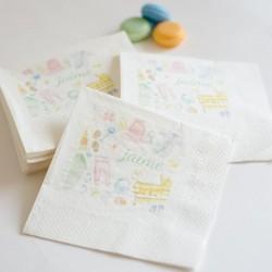 60 Servilletas personalizadas para bebés