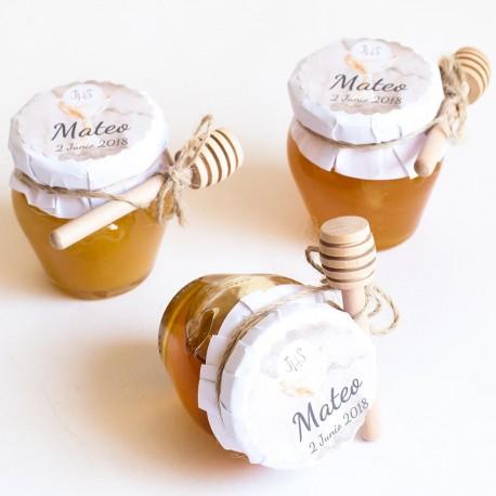 6 tarros de miel para invitados