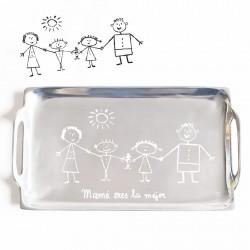 Regalo dia de la madre con el dibujo de los niños