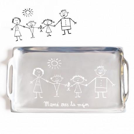 Regalo para padres con dibujo o firma de niños