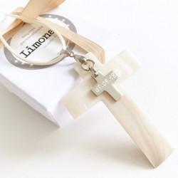 Cruz de nácar y cruz de plata