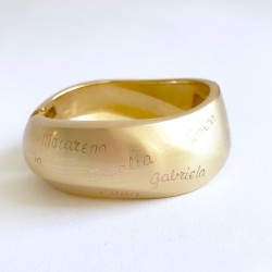 Brazalete Miami dorado y personalizado