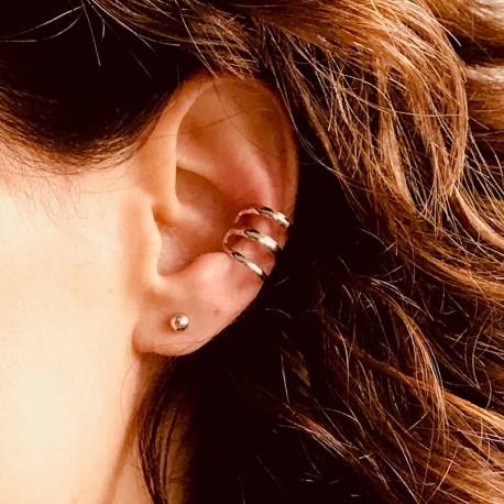Pendiente ear cuff triple