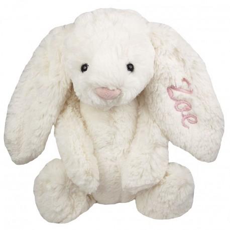 Conejo de peluche con nombre bordado