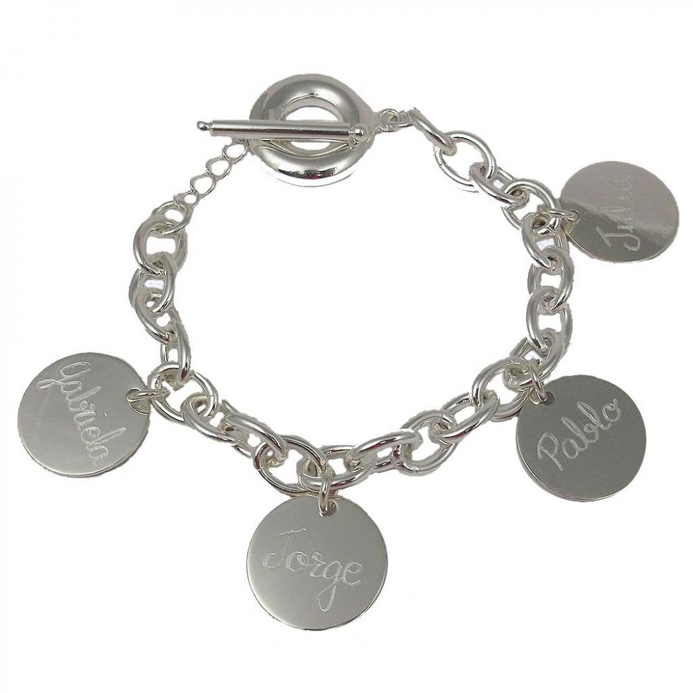23ea568ef901 Pulseras con nombre pulseras de plata joyas personalizadas