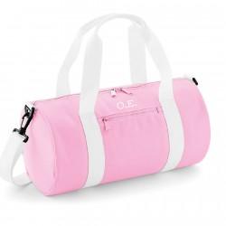 Bolsa de deporte personalizada para chicas en rosa con iniciales