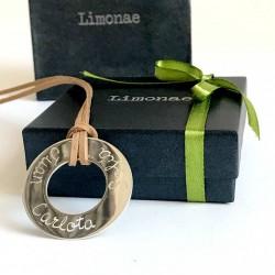 Collar aro de plata grande personalizado