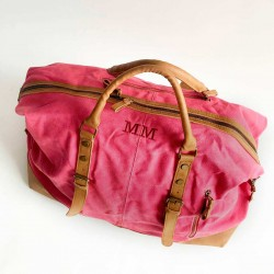 Bolsa personalizada de viaje fin de semana roja