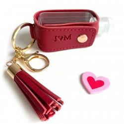 Detalle San Valentin llavero dispensador gel personalizado