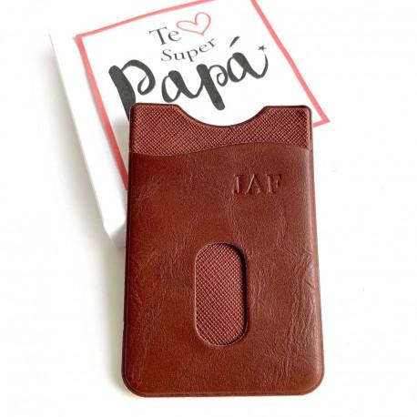 Detalle Día del Padre tarjetero adhesivo para el móvil