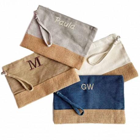 Neceser personalizado tela de saco