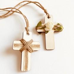 Cruz de madera para niño o niña de Comunión