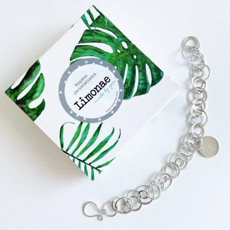 Regalo para profe pulsera de plata personalizada