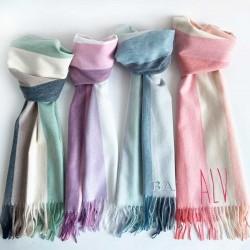 Bufanda de rayas personalizadas