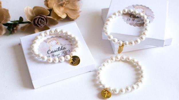 Detalles Comunion. pulseras perlas