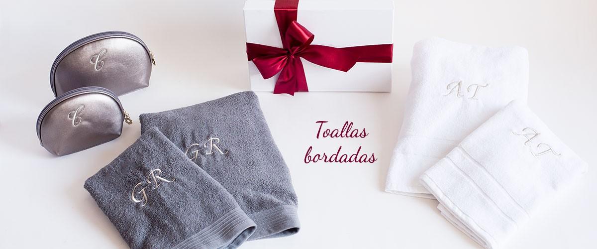 regalos originales toallas bordadas