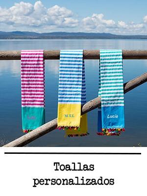 Toallas personalizadas con nombres o iniciales